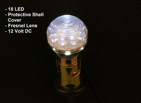 18 led bulb bright white led protective shell cover