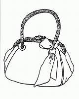 Purse Handbag Coloring Pages Tassen Kleurplaten Template Templates sketch template