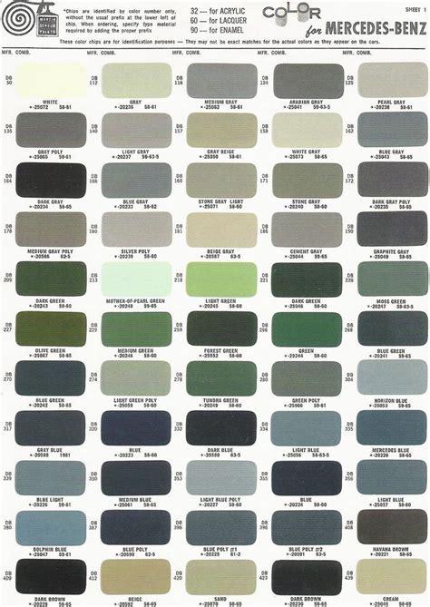 obsidian color chart mercedes benz ponton paint codes color charts www