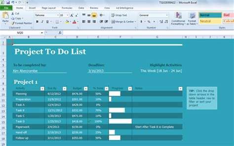 project task list template excel best project management templates for excel