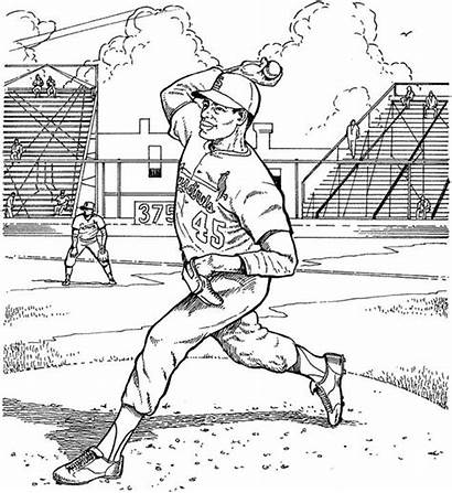 Coloring Baseball Cardinals Pages Louis St Pitcher