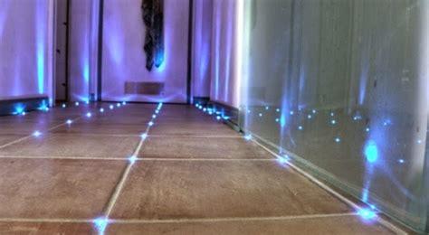 how to make built in led floor lights in bathroom tiles