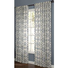 Light Filtering Privacy Curtains by Shop Allen Roth Oberlin 84 In Lt Blue Cotton Back Tab