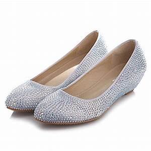 velcans crystal rhinestone middle heels flats dress pumps With dress flats for wedding