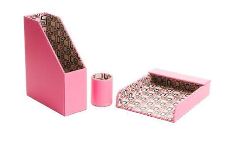 Cute Desk Accessories With Lovely Pink Office Supplies