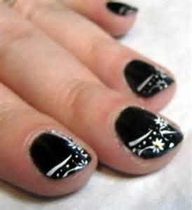 Black nail art designs acrylic