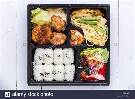 bento japanese cuisine bento box set traditional japanese food set for lunch stock photo royalty free image