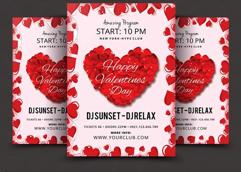 valentines day psd flyer template flyer templates