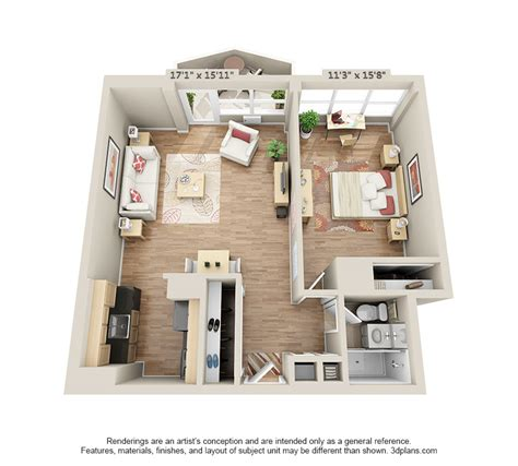 One Bedroom Apartments In Wilmington Nc by One Floor Apartments House Plans