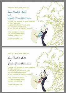 oak tree and couple custom wedding invitations wedding With free printable tree wedding invitations