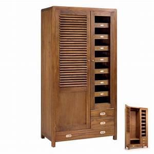 Dressing Bois Massif : armoire penderie style r tro meuble bois chambre ~ Louise-bijoux.com Idées de Décoration