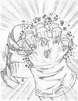 Coloring Infinity Gauntlet sketch template