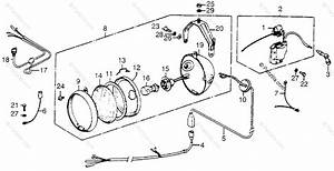 Honda Atv 1980 Oem Parts Diagram For Wire Harness