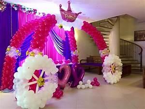 princess carriage balloon arch magical wonderlande