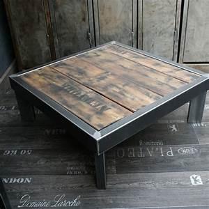 Made Com Table Basse : table basse bois et metal fabriqu e en france ~ Dallasstarsshop.com Idées de Décoration