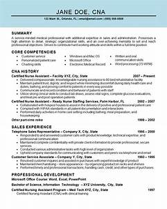 nurse assistant cna resume example With free cna resume samples