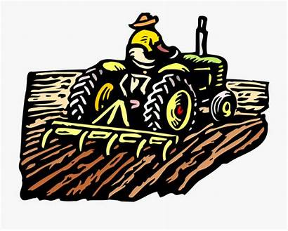 Clip Farming Tractor Farmer Clipart Field Farmers