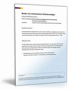 Vertrag Haushaltshilfe Minijob : arbeitsvertrag minijob privater haushalt muster zum download ~ Lizthompson.info Haus und Dekorationen