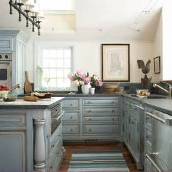 blue countertop kitchen ideas gray kitchen cabinets cottage kitchen southern living