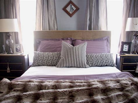 purple  white bedroom combination ideas