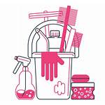 Cleaning Clipart Supplies Transparent Lady Service Maid