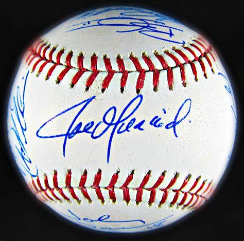 york yankees team signed baseball memorabilia