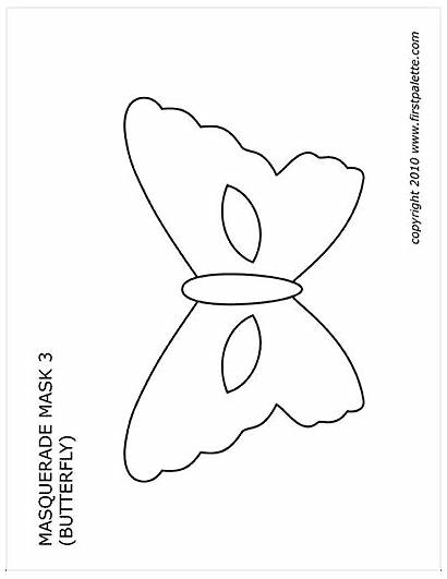 Printable Masquerade Mask Butterfly Printables Firstpalette Flower