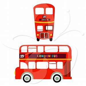 England Double Decker Bus Clipart (16+)