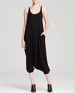 Lyst - Eileen Fisher Scoop Neck Harem Jumpsuit in Black