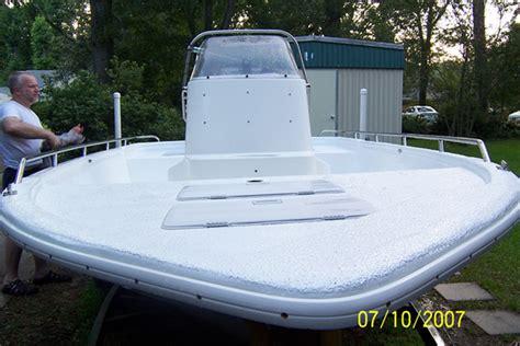 Waterproofing Aluminum Boat by Boat Deck Coating Repair Rubberized Paint Boat Deck