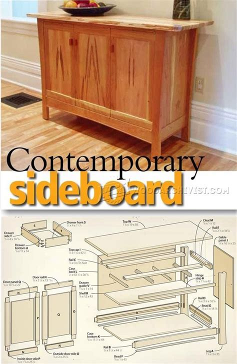 contemporary sideboard plans furniture plans