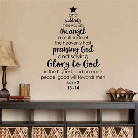 christmas tree wall decal bible verse  wall sticker