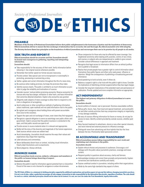 Journalism Code Of Ethics by Ethics Aggie Central