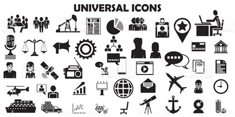 Universal Icon Set. 81 Icons Royalty-free Universal Icon
