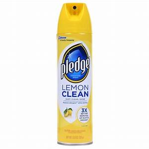 pledge 138 oz lemon clean furniture cleaner 623913 the With furniture cleaner home depot