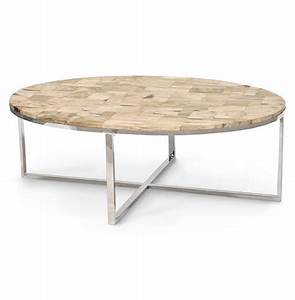 palecek mosaic industrial loft petrified wood cream oval With oval industrial coffee table
