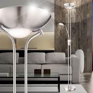 Led Fluter Wohnzimmer : led decken fluter steh lese dimmer diele stand lampe wohnzimmer leuchte dimmbar ebay ~ Sanjose-hotels-ca.com Haus und Dekorationen