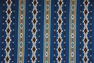 Southwest Stripe Navajo Print Fabric 44x57