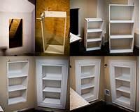 built in wall shelves access panel shelves. | diy in 2019 | Bathroom shelves ...