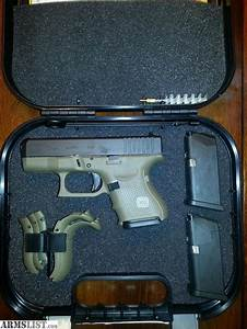 ARMSLIST - For Sale: OD Green Glock 26 Gen 4 with holster