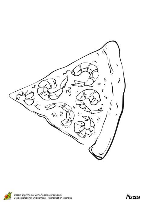 dessin de cuisine à imprimer coloriage pizza crevettes sur hugolescargot com