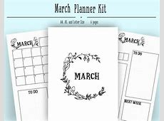 Bullet journal layout for monthly planning This layout