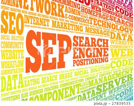 search engine positioning sep search engine positioning word cloudのイラスト素材