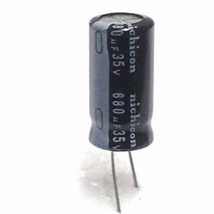 Capacitor 680uf 680 Uf 680mfd 35v Electrolytic 105c Degree Nichicon 10pcs