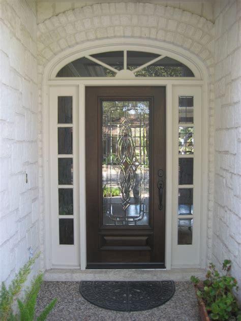 decorative glass wood door gallery  front door company