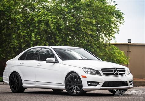 "2013 Mercedes Benz C Class with 18"" TSW Brooklands in"
