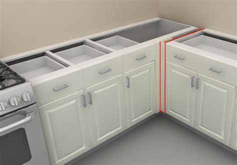 Storage Ideas For Kitchen Cupboards - how to use ikea panels to add support to your counter