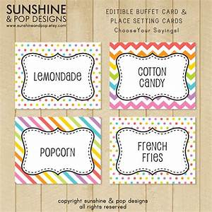 9 best images of editable label printables free editable With buffet food labels templates