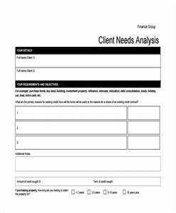 financial needs analysis template free colesthecolossusco With financial needs analysis template free