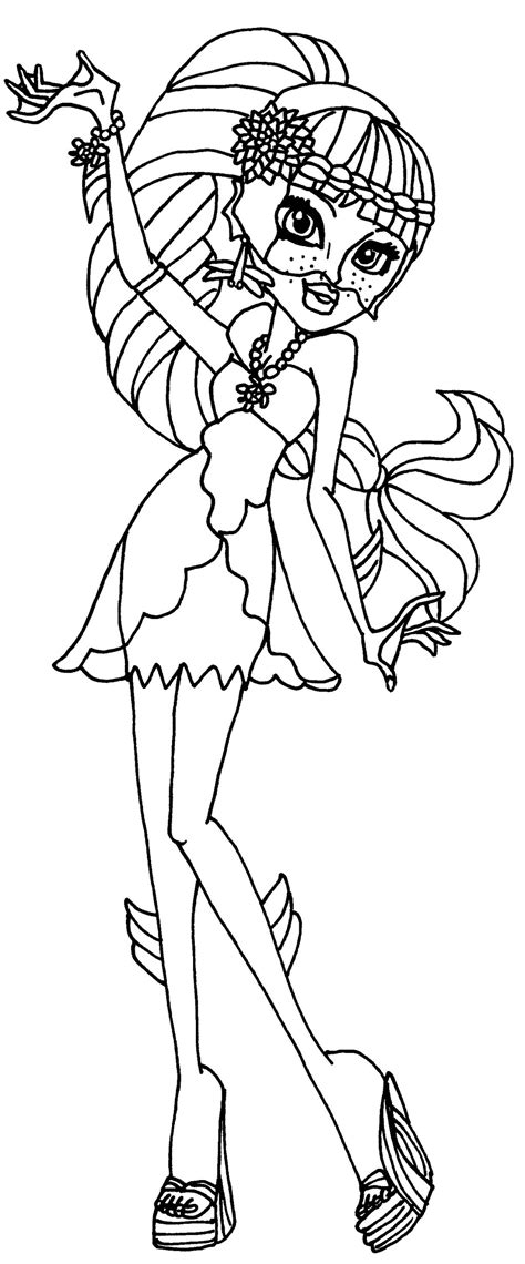 Monster High 13 Wishes Coloring Pages Getcoloringpagescom